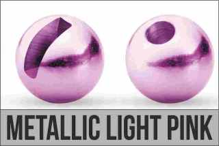 Hlavička Tungsten slotted 3,5mm Metallic Light Pink 10ks